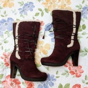 Hot Tomato Brown Boots with Faux Fleece Lining